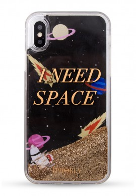 GLITROVÝ KRYT SPACE NA IPHONE X/XS