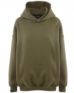 MIKINA OVERSIZED S KAPUCÍ MILITARY HICHIC Moodie